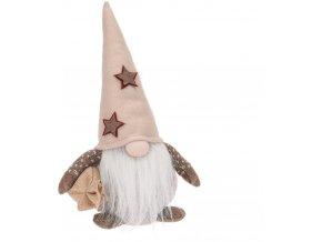 Dekorativní figurka s vousy, vánoční dekorace, výška 50 cm