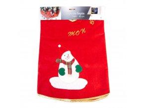 Vánoční strom dekorativní rohože s motivem Santa Claus, bílé
