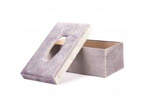 Box na kapesníky ve stylové šedé barvy, 27x15x10 cm