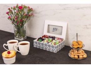 Tea box s 6 čajové přihrádky, téma OCEAN
