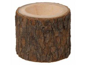 Dřevěný svícen pro topení, borovice, průměr 5 cm