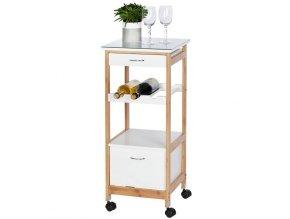 Kuchyňský vozík v bílé barvě, Wenko FINJA