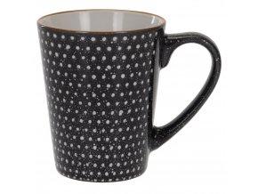 Hrnek na teplé nápoje, káva, čaj, keramika, 310 ml, tečky a šipky potisk