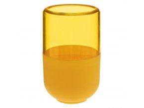 Zubní kartáček pohár, kontejner, žlutá