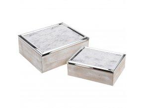 Sada 2 šperkových krabiček, dárková krabička, dárková krabička, sada šperků