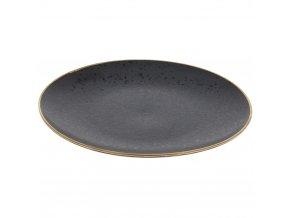 Dekorativní talíř, Ovocný talíř, Koláče Ø28 cm, černá se zlatým nášivka