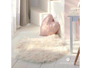 Dětský pokoj srdce dekorativní polštář, třpytky, 37 x 37 cm, růžová