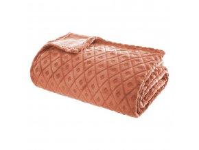 Měkká deka, Capa, deka, 3D Pléd, oranžová, 180 x 230 cm