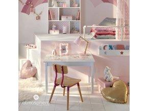 Dětský pokoj srdce dekorativní polštář, třpytky, 37 x 37 cm, Zlato