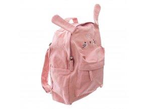 Dětský batoh pro školky, dětská taška, zajíček motiv růžový