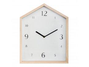 Dětský pokoj Nástěnné hodiny s tichým mechanismem Dřevěný dům, Bílá
