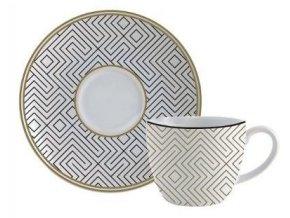 Snídaňová souprava BALMA, talíř a hrnek, porcelán