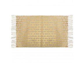TAPIS bavlněné rohože se střapci, 60x90 cm zlaté