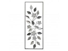 Dekorace na stěnu DECO MURALE, 28x74 cm, květinový motiv