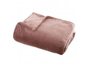 Plyšová deka FLANEL UNI, 140 x 200 cm, růžová