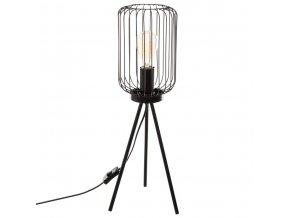 Dekorativní stojací lampa EGIO, kov, 59 cm, černá