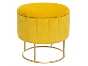 Pouf na dýně, Ø 39 cm, žlutá