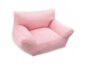Dětská pohovka plyš, růžová barva, Atmosphera pro děti
