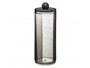 Kontejner pro kosmetické vločky GLITTER M, 19 cm, černá