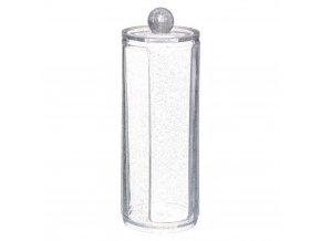 Kosmetické vločky kontejner GLITTER M, 19 cm, transparentní