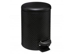Košík do koupelny DOTS, 3 L, kov, barva černá