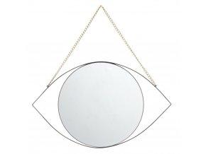 Dekorativní zrcátko EYE Zrcadlo, 25x40 cm, černé