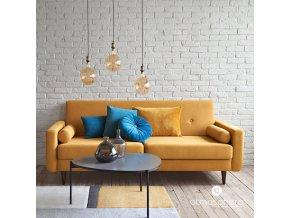Dekorativní žárovka LED SOFT AMBER, G125 4W, barva šedá