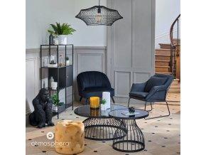 Závěsné svítidlo YALE, kov, 60 cm, barva černá