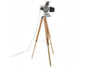 stojací lampa LOFT s nastavitelnou výškou, bambus, 139 cm