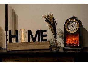 Dekorativní lampa HOME se žárovkou, MDF, 34 x 17 cm