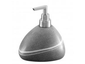 Dávkovač na mýdlo  POLY, barva šedá, ZELLER