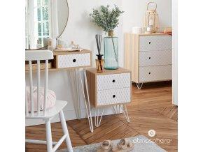 Noční stolek EFFY, 2 úrovně, 40x30x53 cm