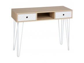 Stůl se 2 zásuvkami EFFY, 100x38x76 cm