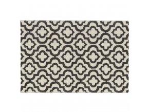 Dekorativní koberec v černé a bílé vzory Mervin, 60 x 90 cm