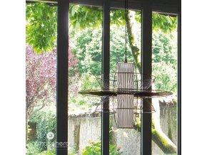 Závěsná kovová lampa FILAIRE, 77 cm