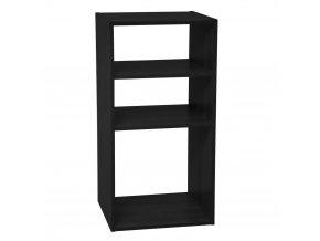 Knihovna se 4 policemi, 34x32x67 cm, černá