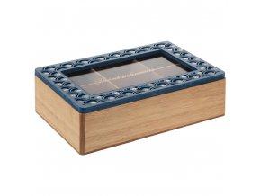 Čajový box PEACOOK, 6 přihrádek