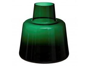 Dekorativní váza RETRO, 23 cm, zelená barva