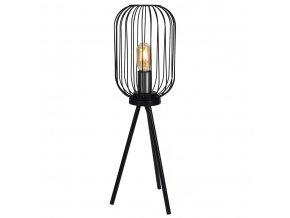 Kovová třínohá lampa, 36 cm, černá