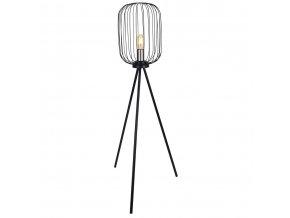 Kovová stativ lampa, 102 cm, černá