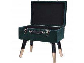 Krabice s funkcí sedadla, zelená, 2 v 1