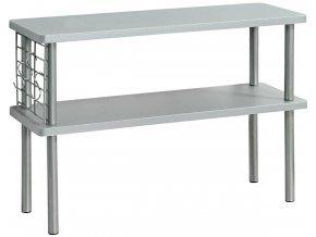 Kuchyňská police na koření a nádobí, 2 úrovně, šedá, Kesper