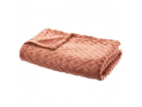 Měkká deka, Capa, deka, 3D Pléd, oranžová 125 x 150 cm