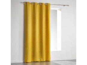 Zatemňovací závěs žlutá VELVET, 140 x 240 cm