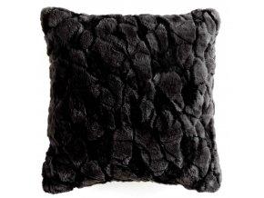 Černý dekorativní polštář ESKIMO, 40x40 cm