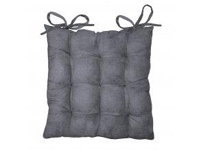 Polštář na židli 40 x 40 cm SUEDINE, tmavě šedá