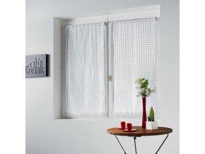 Kuchyňské krátké závěsy v bílé barvě ADRIA, 60x160 cm