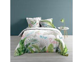Bavlněné ložní prádlo s tropickým tématem, 200x200 cm