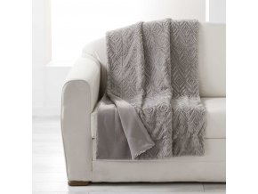 LUXOR přehoz na postel, 180 x 220 cm, šedá