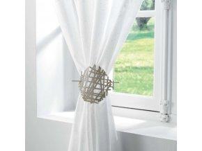 Béžový kovový klip PHAROS, 17 cm